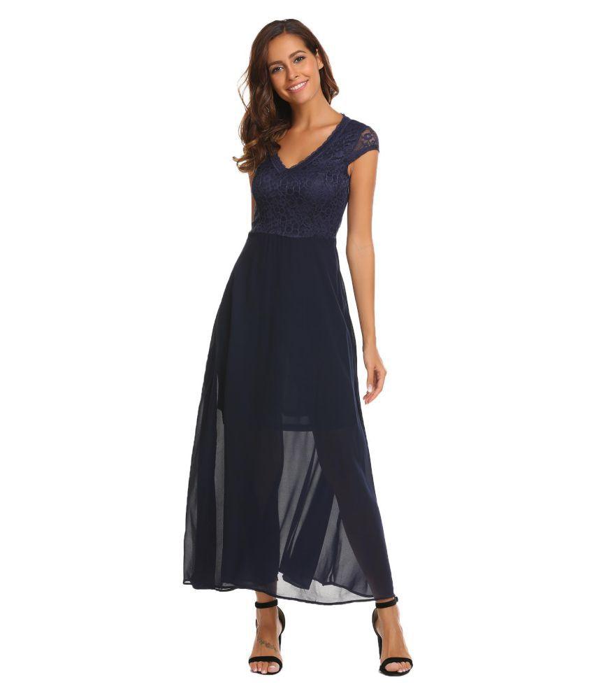 5afa616799 Lace v-neck dress - Buy Lace v-neck dress Online at Best Prices in ...