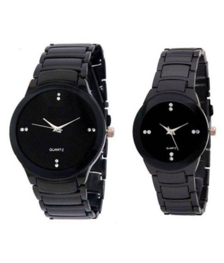 a2f100da2ec2 dk ENTERPRISES full black analog couple watch - Buy dk ENTERPRISES full  black analog couple watch Online at Best Prices in India on Snapdeal
