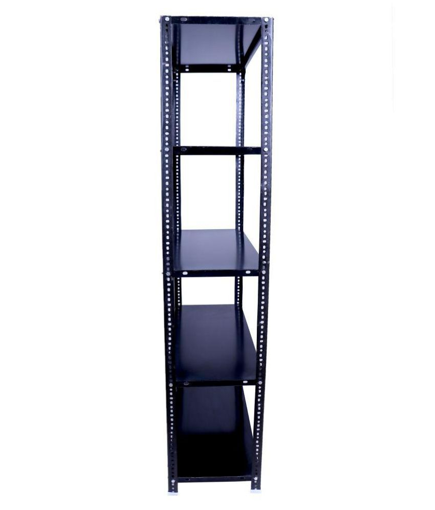 menage metal slotted angle rack 6x2x1 feet with 5 shelves buy rh snapdeal com