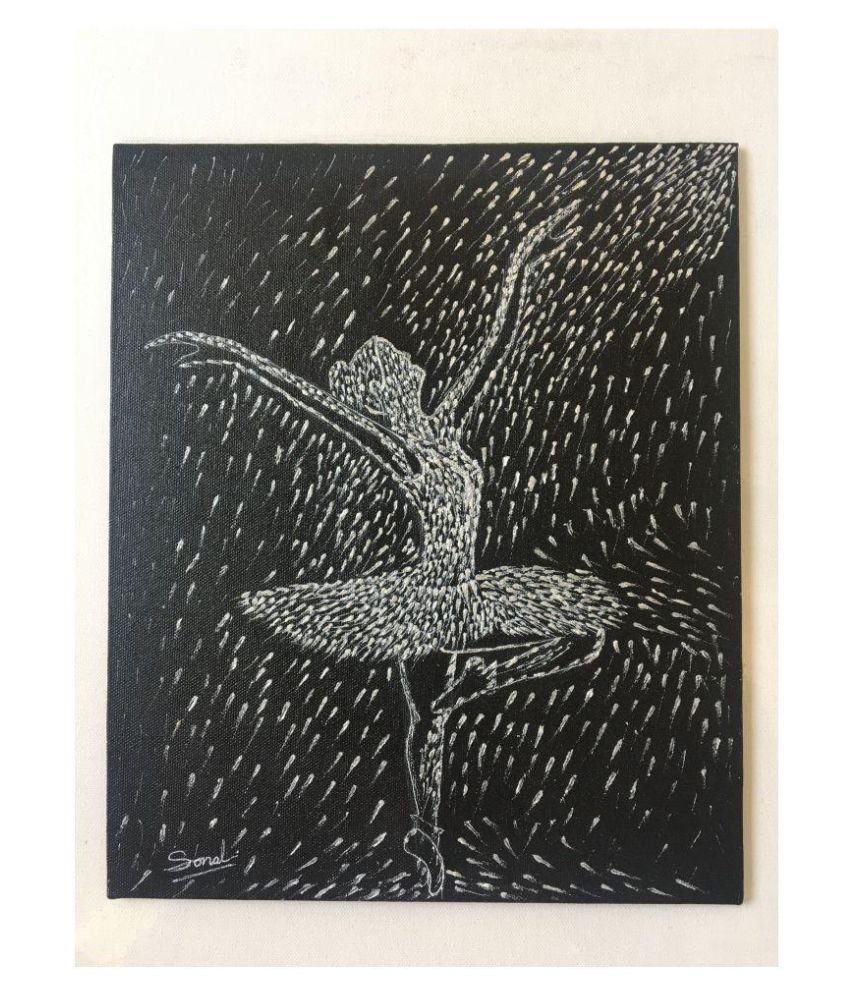 WeGo Art Gallery Ballet Dancer Needle Texture Acrylic Painting Canvas Painting Without Frame
