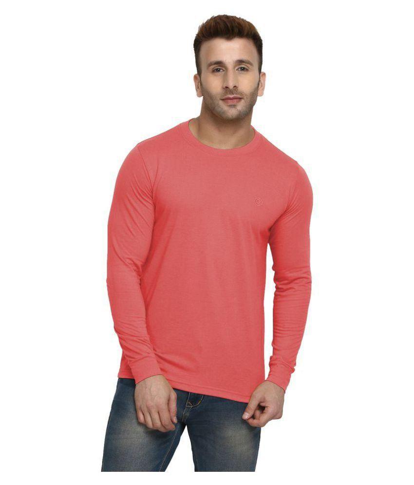 Chkokko Peach Full Sleeve T-Shirt