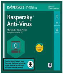 Kaspersky Antivirus Antivirus Latest Version ( 1 PC / 1 Year ) - Activation Code-Email Delivery