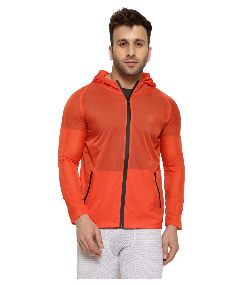 CHKOKKO Waterproof Activewear Lightweight Hooded Solid Wind Cheater Zipper Sports Jacket for Men