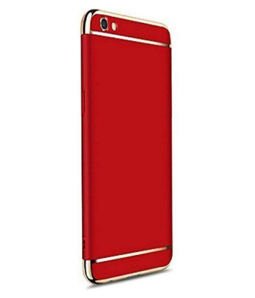 Vivo Y71 Plain Cases Bright Traders - Red