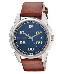 Fastrack 3124sl02 Leather Analog Men's Watch