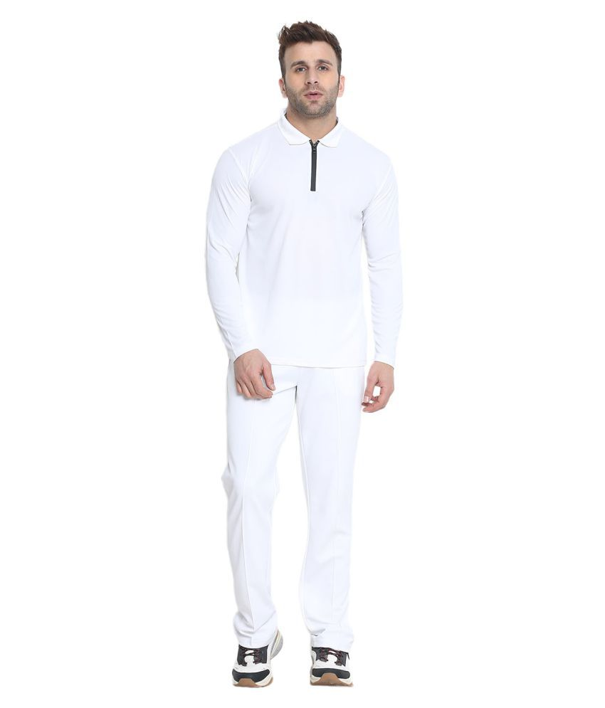 CHKOKKO Full Sleeves Active Wear Sportswear Full Cricket Set Or Suit Of T Shirt and Trousers for Mens and Boys