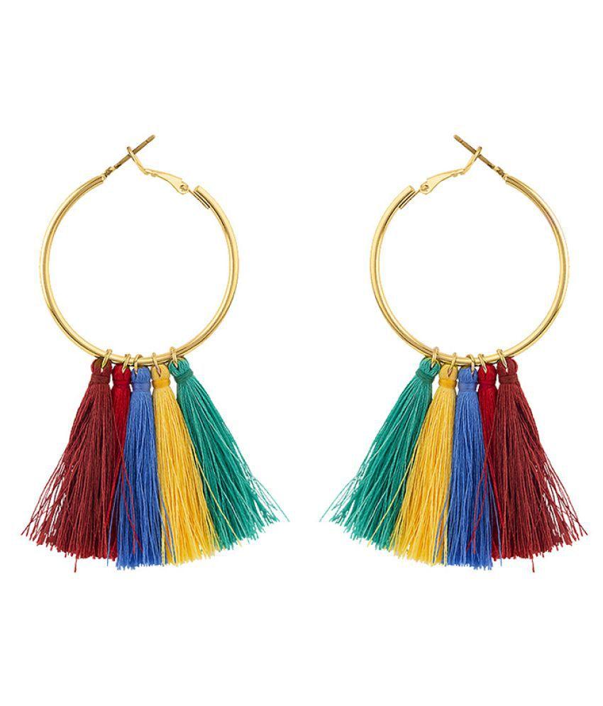 Voylla Teens Interchangeable Gold Plated Hoop Earrings