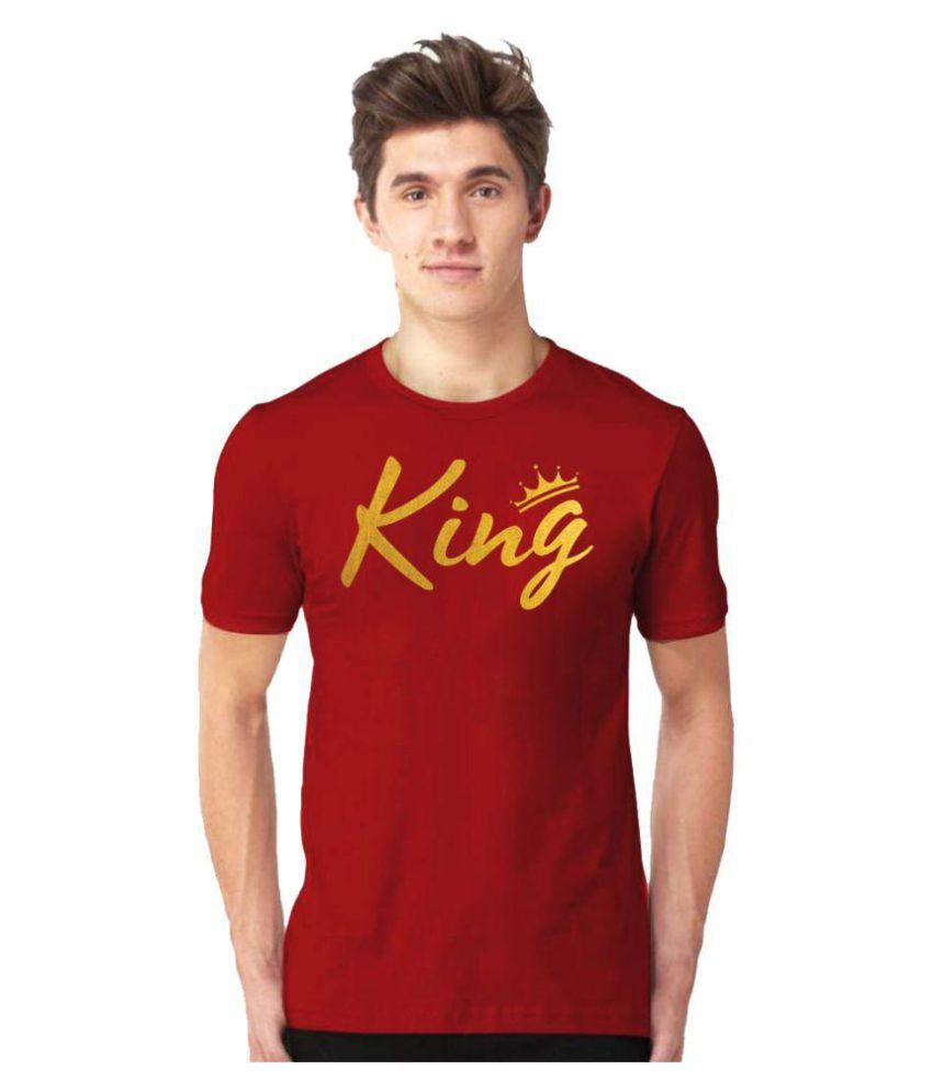 Hi Fashion Red Cotton T-Shirt