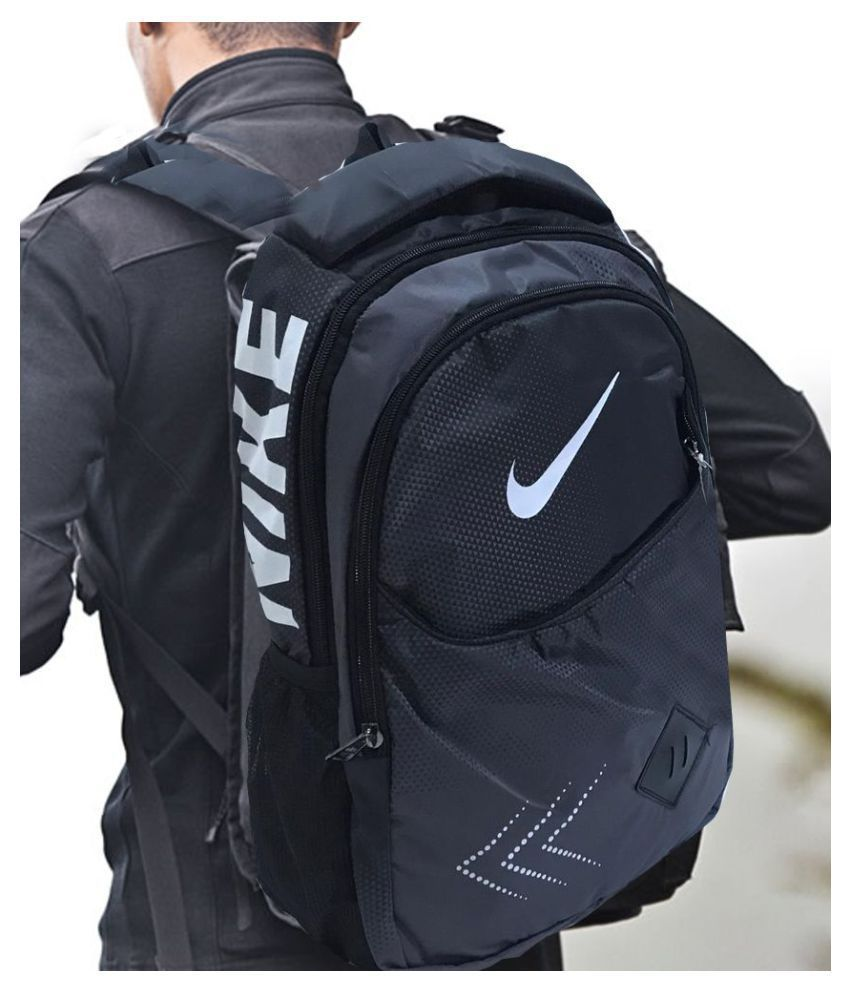8fe2e337e Nike Branded Black Polyester College Bags trekking bags Backpacks- 22 Ltrs  - Buy Nike Branded Black Polyester College Bags trekking bags Backpacks- 22  Ltrs ...