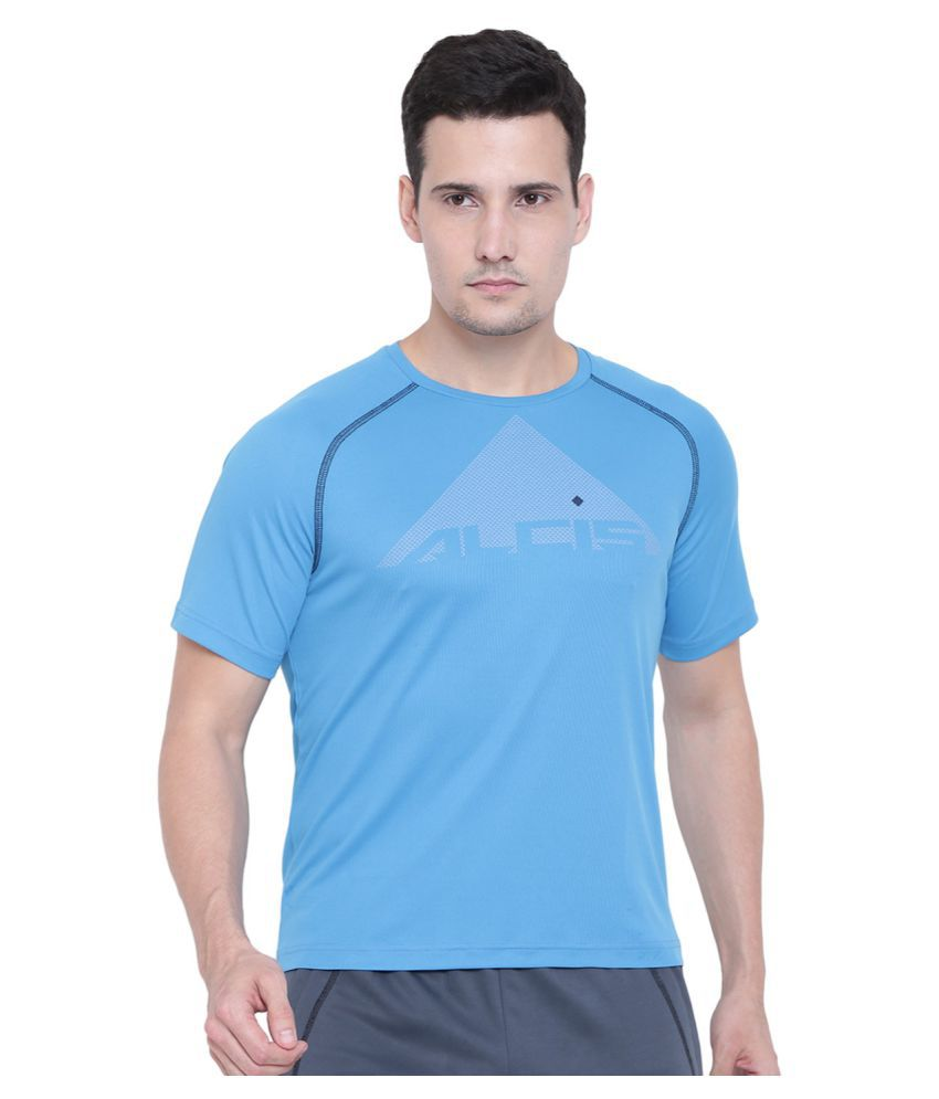 Alcis Blue Half Sleeve T-Shirt Pack of 1
