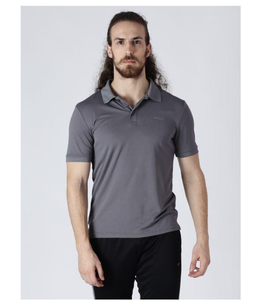 Alcis Grey Half Sleeve T-Shirt Pack of 1