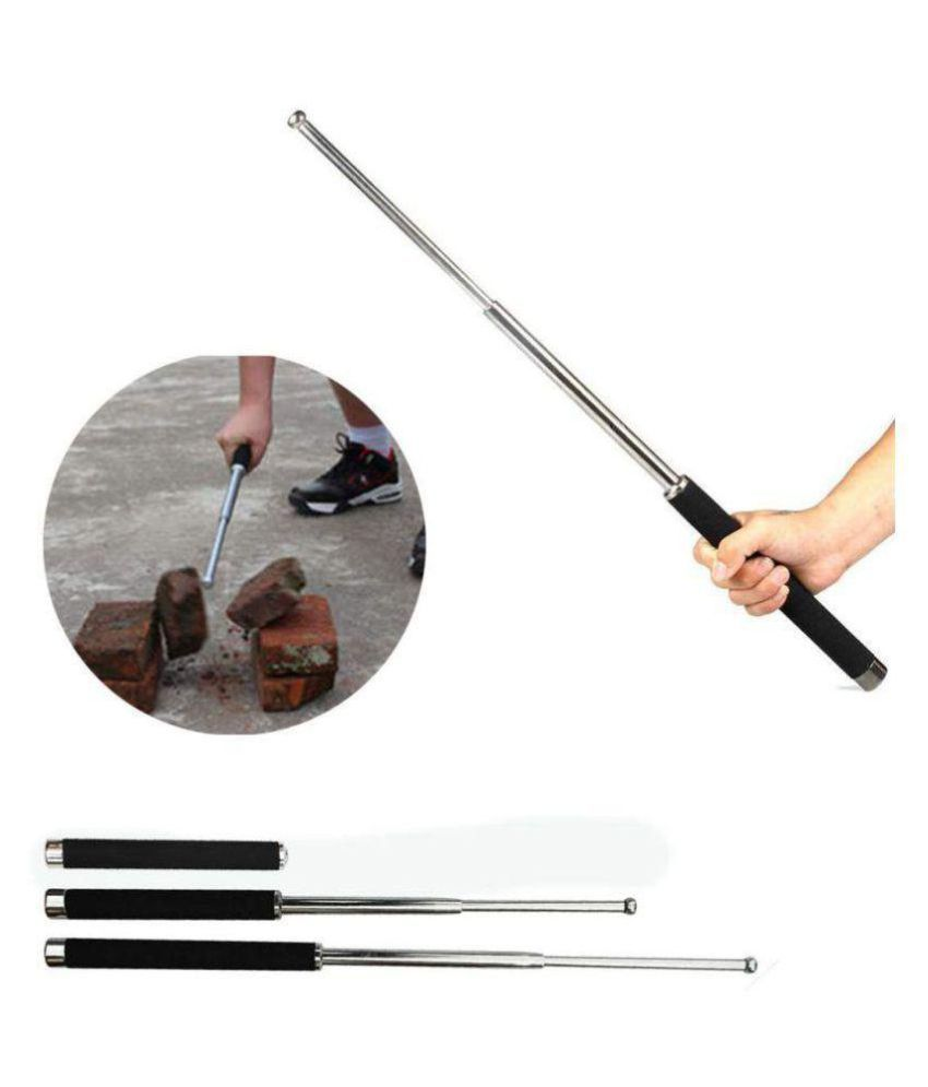 AC Atoms Self Defence Tactical Rod (Heavy Metal and Extandable) Iron Baton Folding Stick