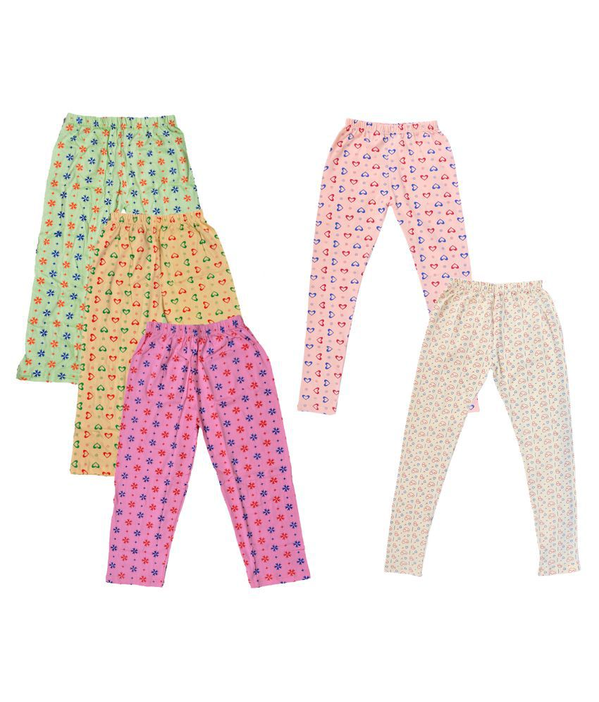 IndiWeaves Girls Cotton Pyjama/Lower and Leggings (Pack of 5)