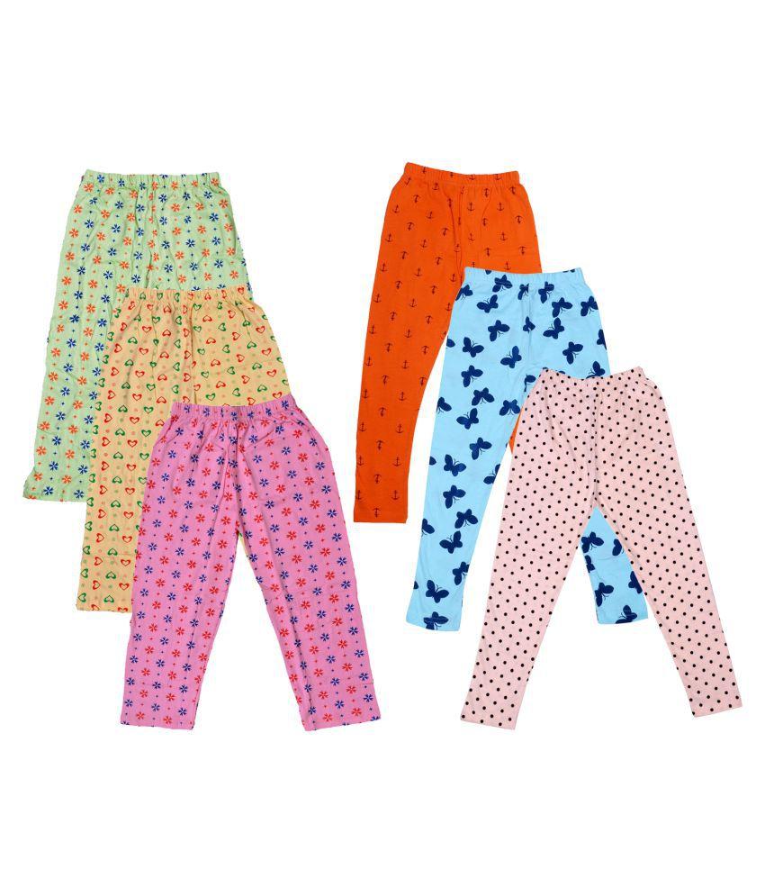 KAYU Girls Cotton Pyjama/Lower and Leggings (Pack of 6)