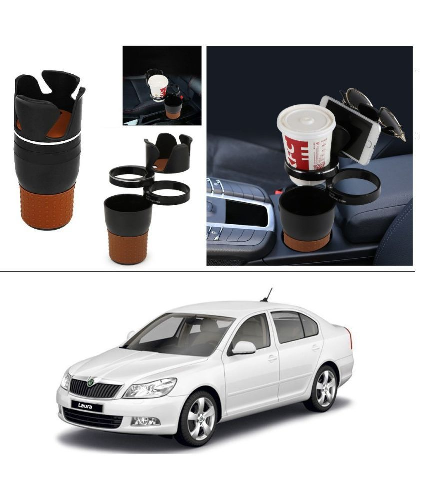 AutoRight Cup & Can Holder for Front Seat Side Black