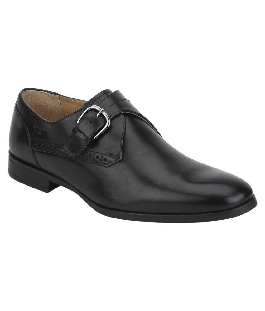 6d3476b444 Park Avenue Black Formal Shoes Price in India- Buy Park Avenue Black Formal  Shoes Online at Snapdeal