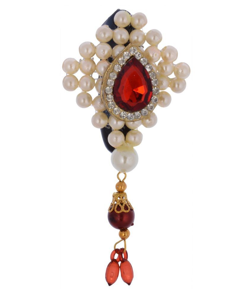 Polyviscose Multi Color Hand Made Pearl Saree Pin For Women