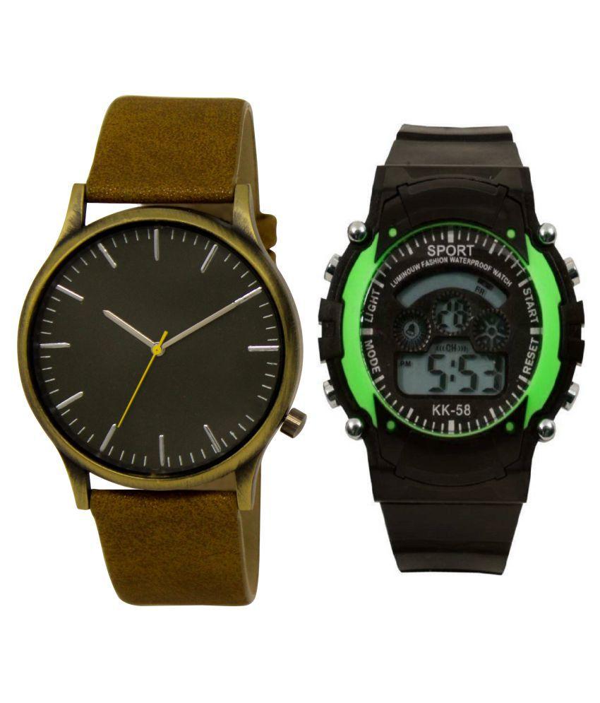 LAXMO-004-7 LIGHT GREEN new stylish ANALOG WATCH FOR MEN