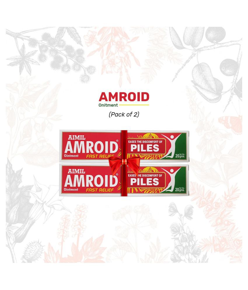 Aimil Amroid Ointment For Piles Paste 20 gm Pack Of 2