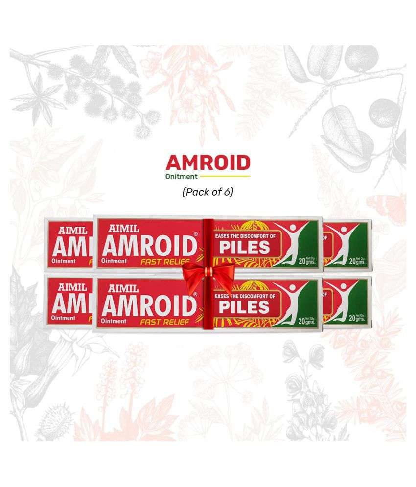 Aimil Amroid Ointment for Piles Paste 20 gm Pack Of 6