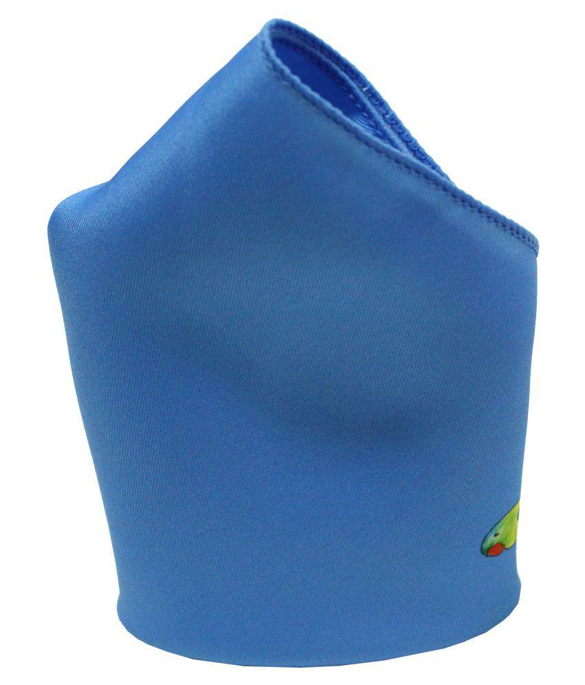 Leonardi Men's Blue Polyester Free Size Printed Pocket Square