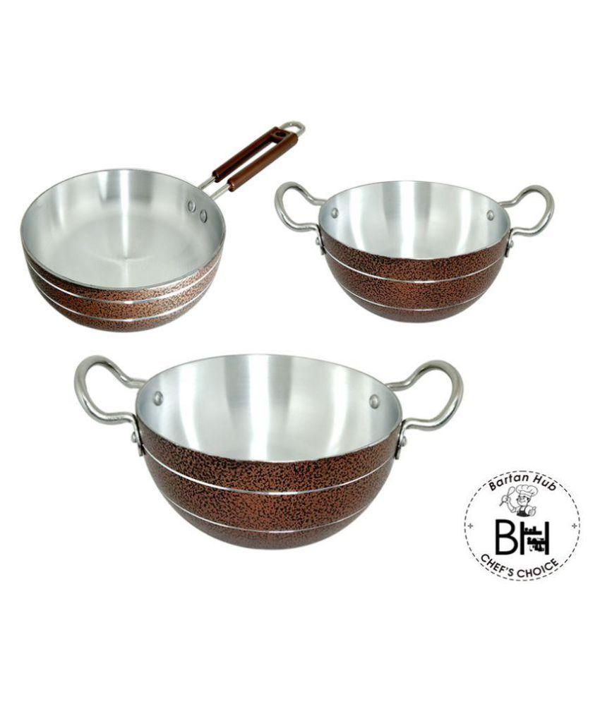 bartan hub cookware set 3 Piece Cookware Set