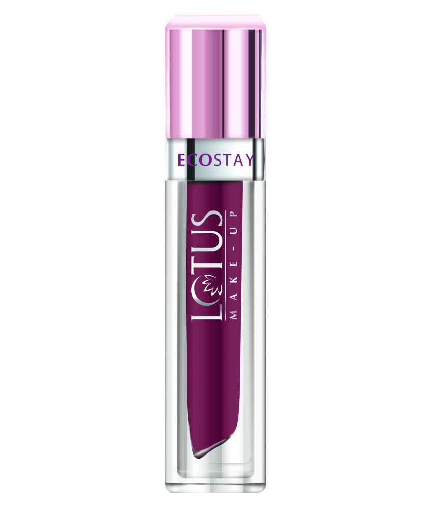 Lotus Make-up Ecostay Matte Lip Lacquer - Plum Berry (EL06) 4g