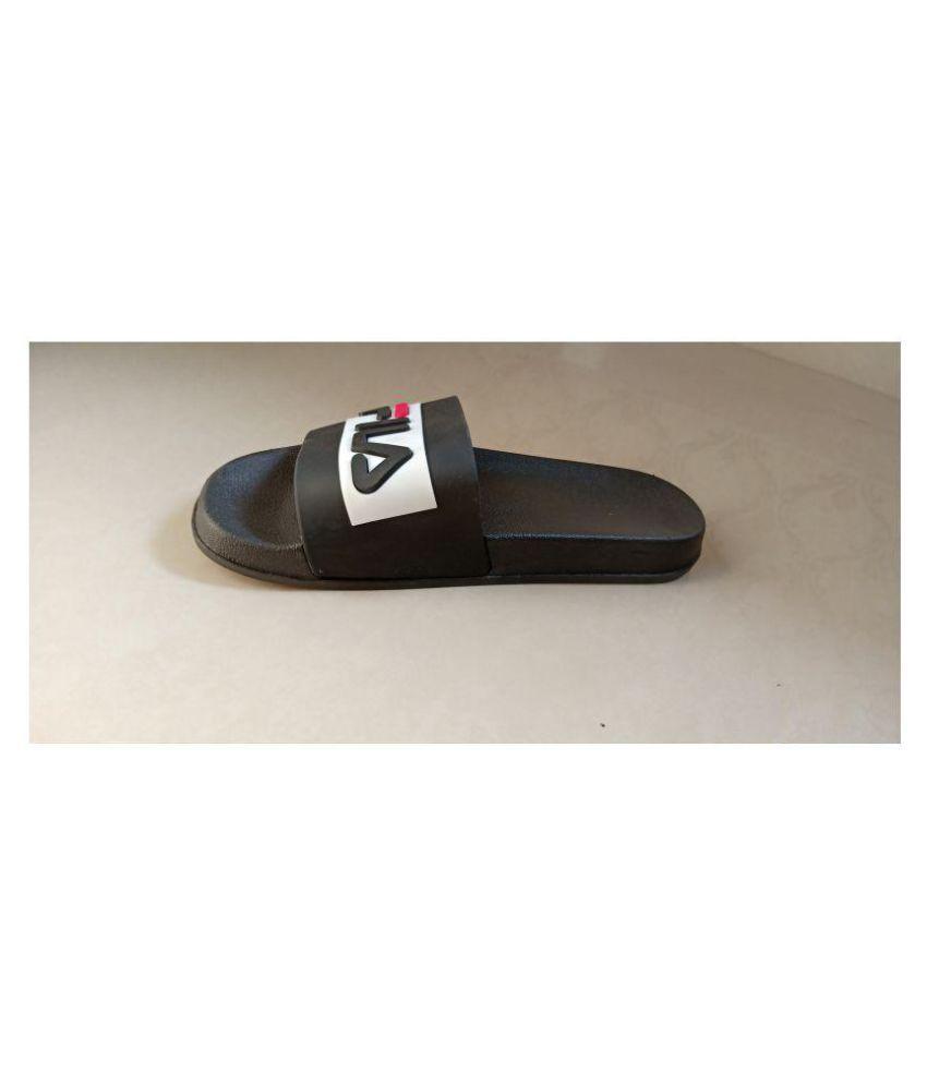 428690937 Fila Black Slide Flip flop Price in India- Buy Fila Black Slide Flip ...