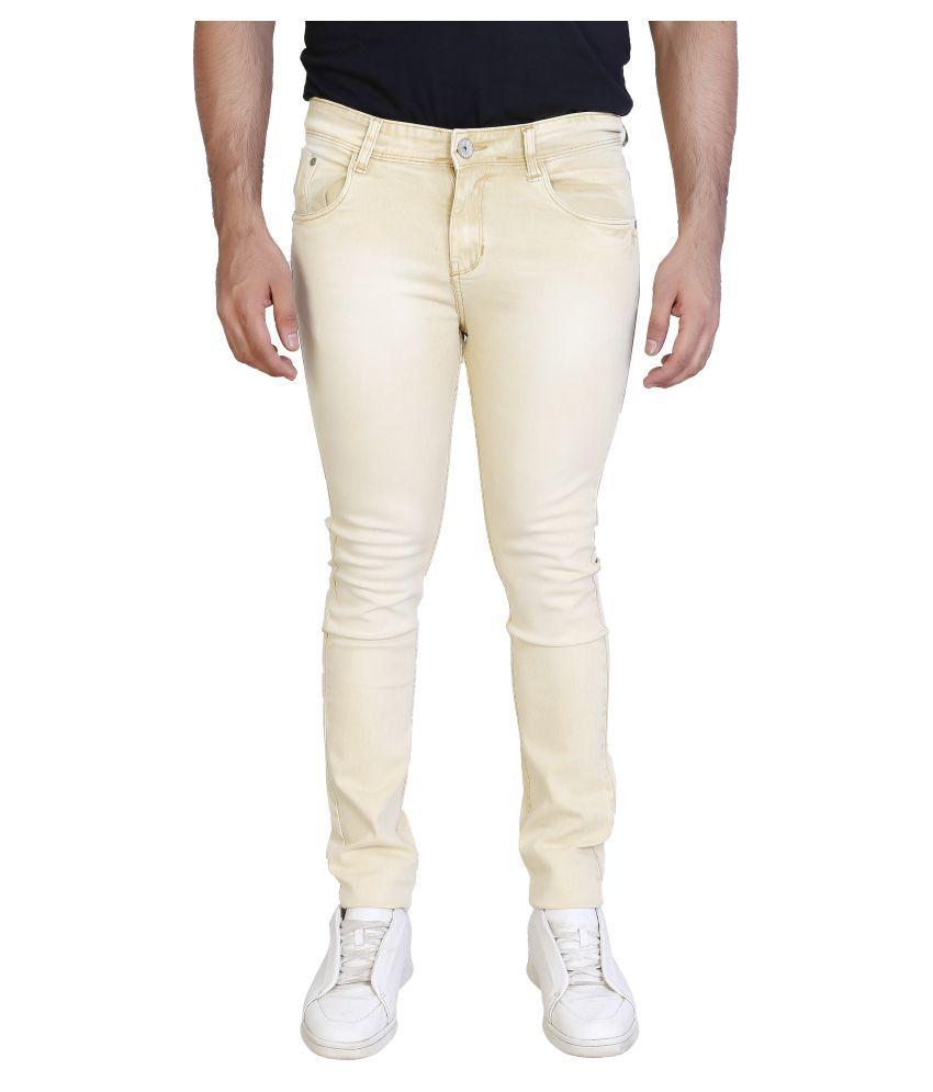 Frod Beige Regular Fit Jeans