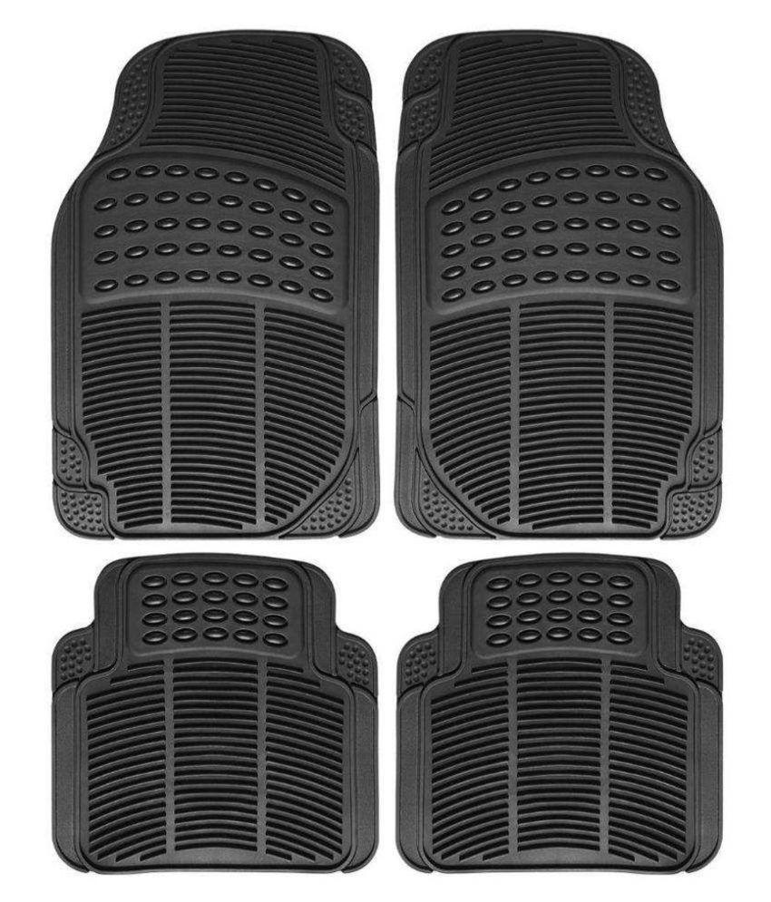 Ek Retail Shop Car Floor Mats (Black) Set of 4 for SkodaRapid1.6MPIAmbition
