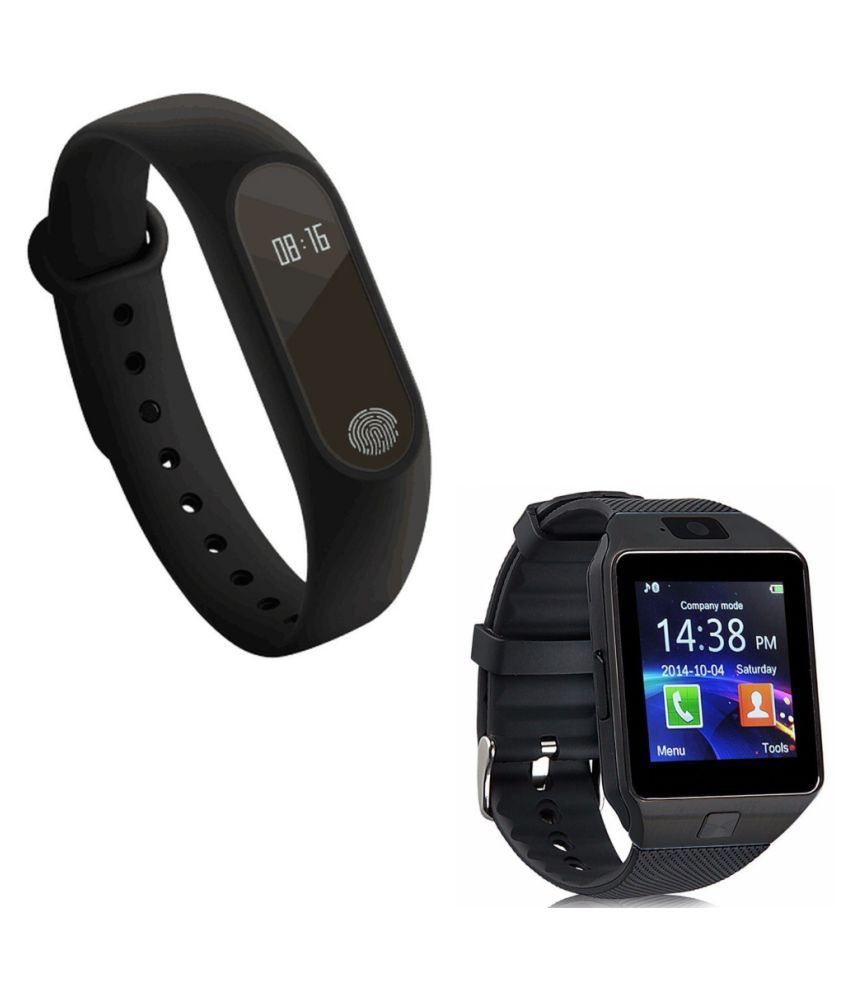 Captcha Bluetooth Smart Fitness  Band With Handsfree Bluetooth DZ09 SmartWatch