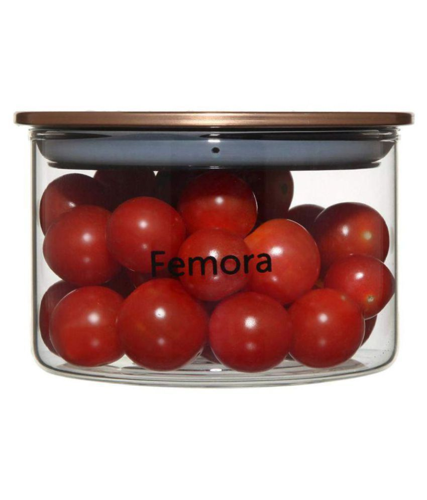 Femora Borosilicate Glass Dal Container Set of 1