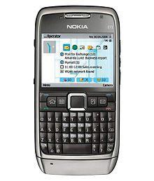 Cellular Phones Silver Black E71 128 MB
