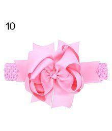 Baby Kids Girls Headwear Sweet Hair Band Big Bowknot Elastic Headband Hairband