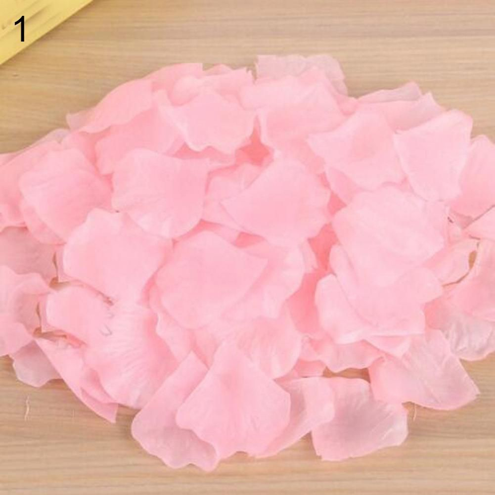 500 Rose white Flowers Silk Rose Petals Wedding Party Table Confetti Decoration