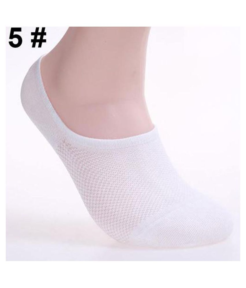 6 Pairs Men Fashion Summer Bamboo Ankle Invisible Loafer Boat Liner Low Cut Socks
