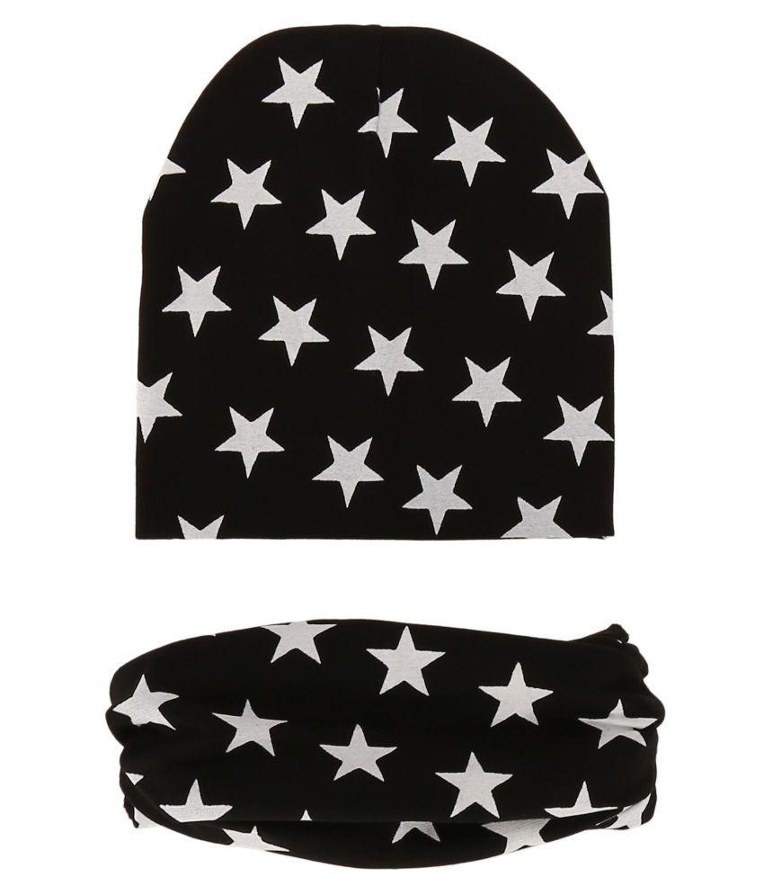 0ea6e9fb073 ... Kids Five-pointed Star Printed Winter Hat Beanie Cap Neckerchief 2  Pieces Set ...