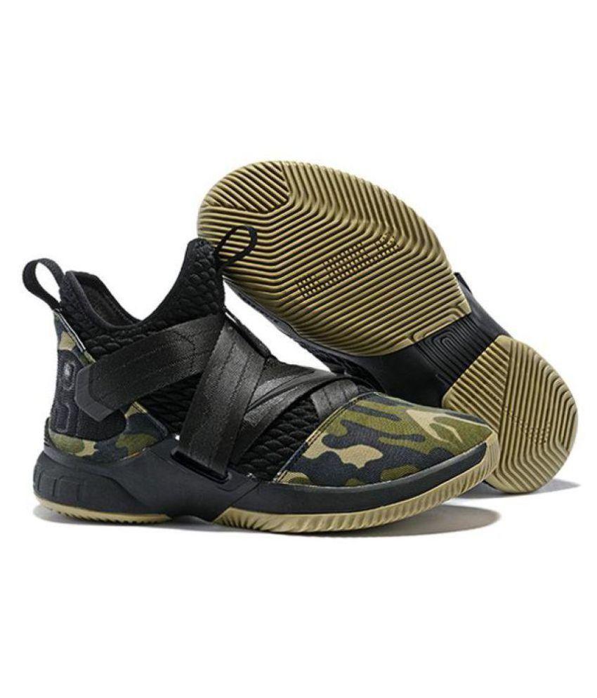 a2faaa7c54e8f Nike Nike Lebron Soldier 12 Black Military Midankle Male Black  Buy ...