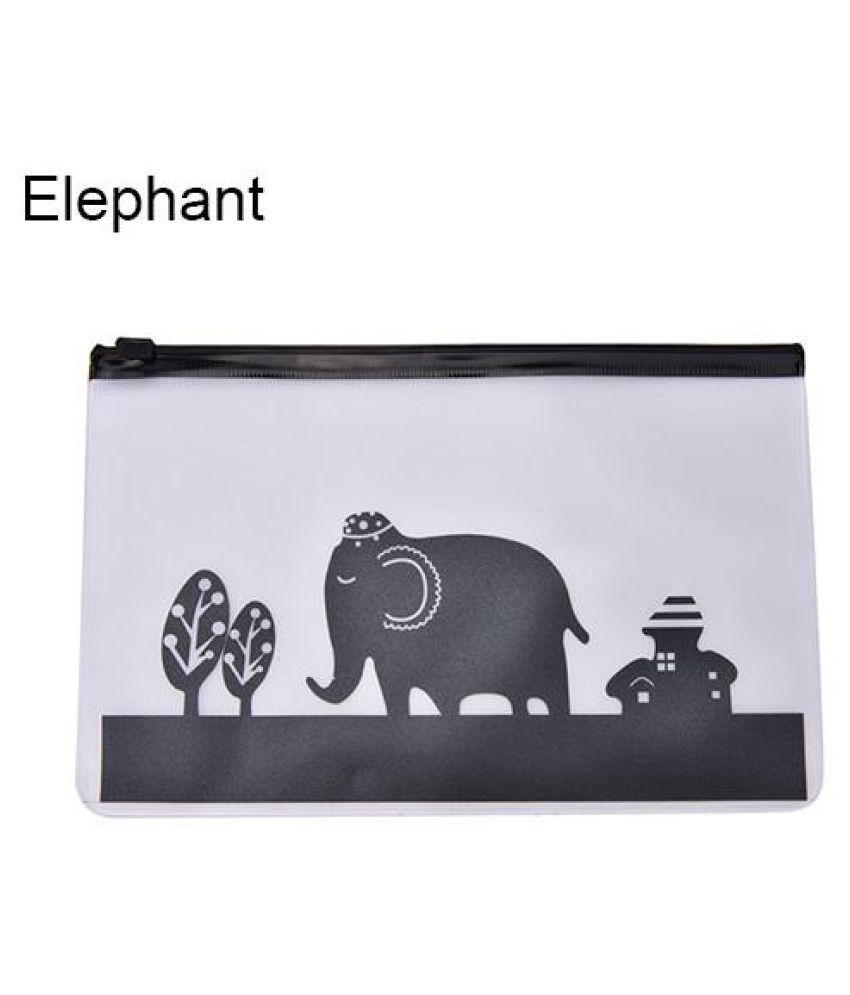1Pc Pencil Pen Case Cosmetic Bag Clear Cartoon Makeup Pouch Toiletry Holder