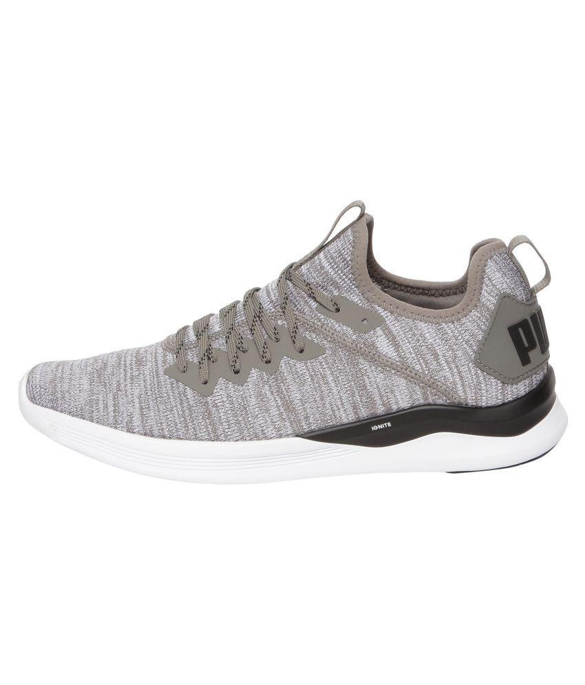 low cost 7e263 46257 Puma IGNITE Flash evoKNIT Running Shoes Gray