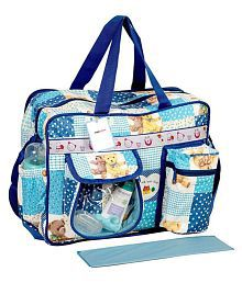 ForeTrend Blue Canvas Diaper Bag ( 40 cm