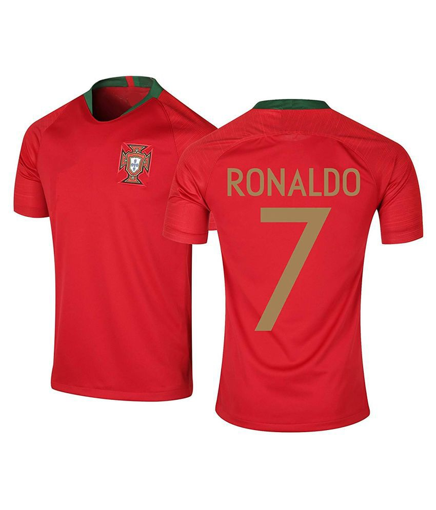 Red Portugal Jersey World Cup 2018(Ronaldo Football Jersey-Ronaldo t Shirts for Men)
