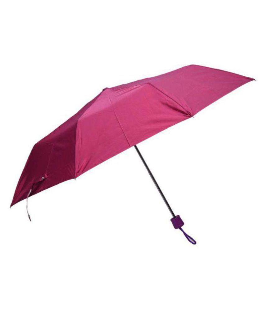 HAZZLEWOOD Maroon 3 Fold Umbrella