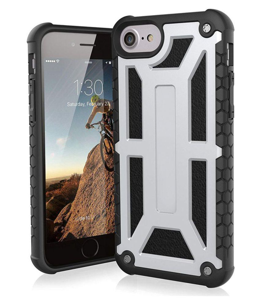 iPhone 8 Hybrid Covers CUBIX - Silver