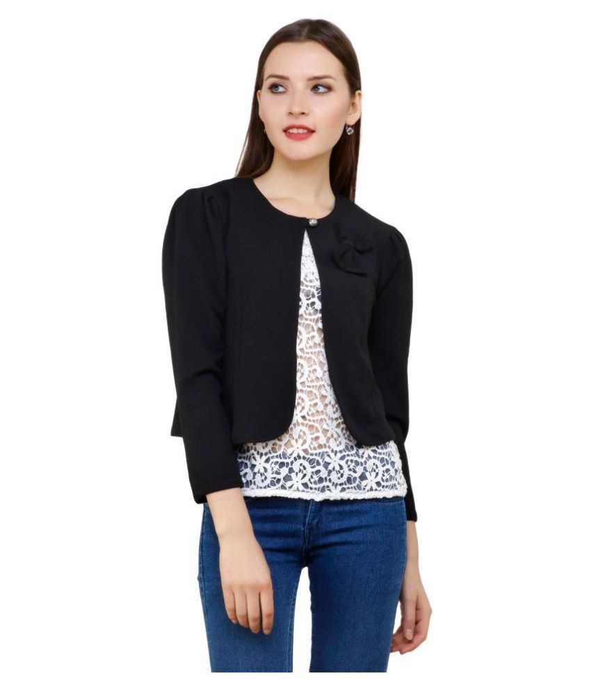 Aadrika Acrylic Black Jackets