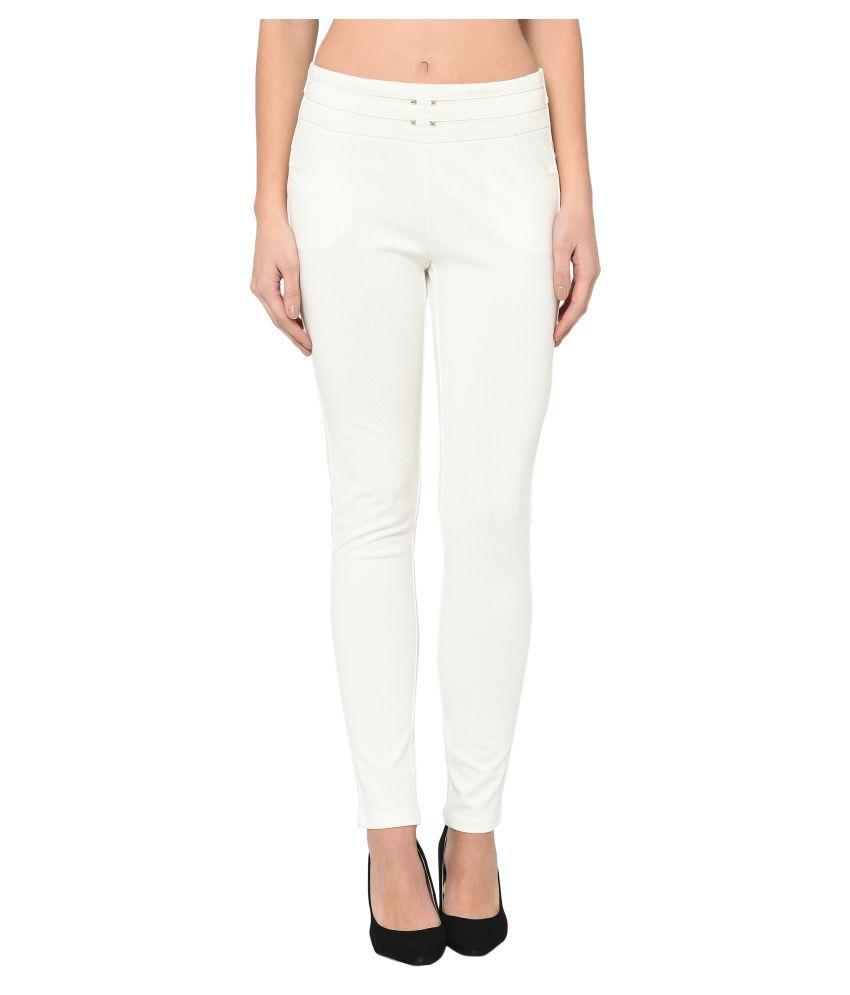 Westwood Cotton Lycra Jeggings - White