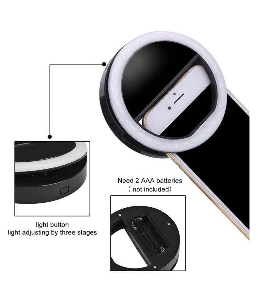 LECO LED Rechargable Selfie Ring Light Flash for Musically