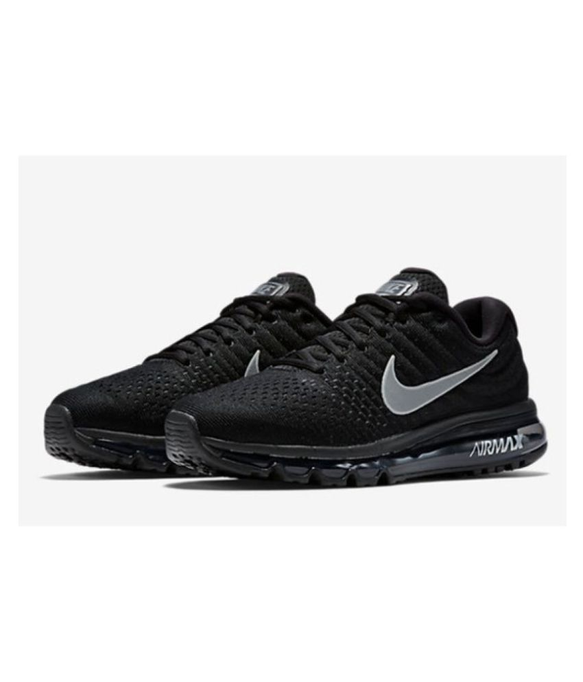 pretty nice 020a2 53610 Nike Air Max 2017 Black Running Shoes