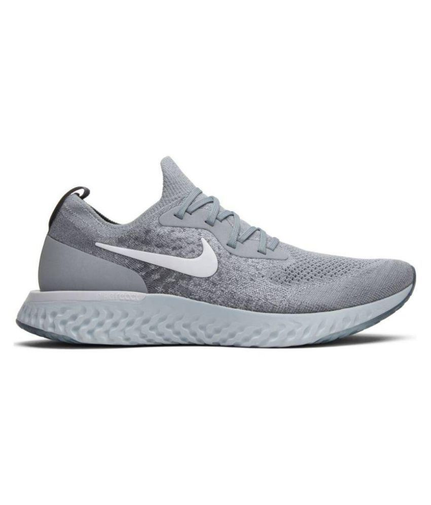 66bedacbd80 Nike EPIC REACT FLYKNIT Grey Running Shoes - Buy Nike EPIC REACT FLYKNIT  Grey Running Shoes Online at Best Prices in India on Snapdeal