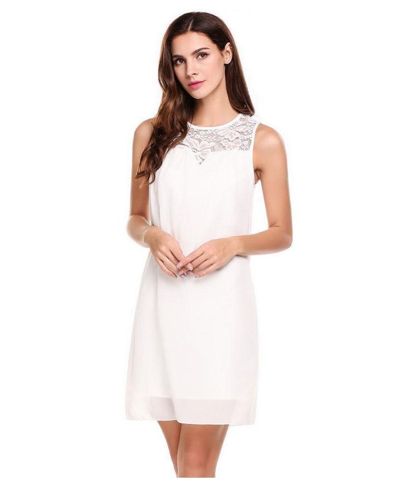 Sleeveless stitching dress
